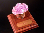 Square Hardwood Base with Diamond Drill PedestalAwards & Gifts -Various Display Units