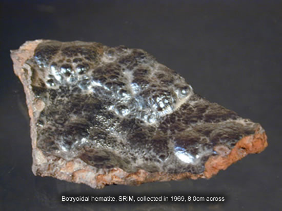 Botryoidal hematite, SRIM, collected in 1969, 8.0cm across