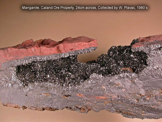 Manganite, Caland Ore Property, 24cm across, Collected by W. Plavac, 1980's